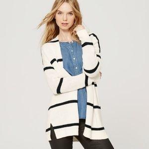 LOFT Naturical Open Striped Cardigan